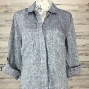 Blue Saks fifth Avenue Shirt Size Medium Button Up